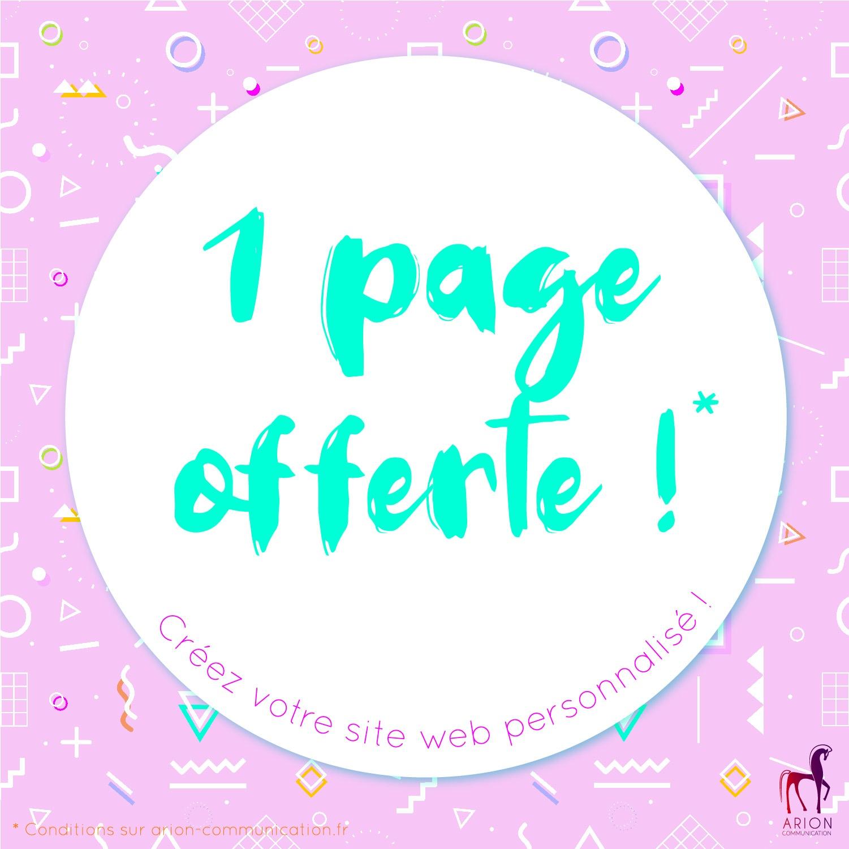 Une page offerte pour votre site internet !
